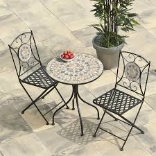 Tile Bistro Table Interesting Mosaic Bistro Table And Chairs Fun Furniture Murals