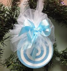 beautiful pastel blue and white ornament