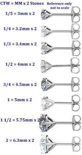 diamond stud sizes 1 5 2 ctw i3 g h 4 prong basket diamond stud earrings with