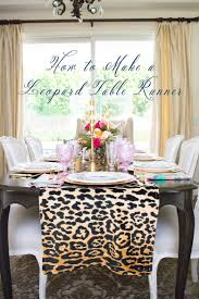 dining room table runner how to make a leopard table runner by randi garrett design