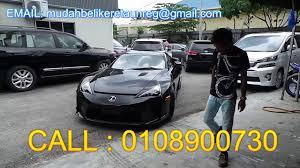 buy a lexus lfa lexus lfa mudah buy car unregistered 0108900730 wanbotak