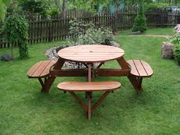 Plans For Making A Round Picnic Table by How To Build A Round Picnic Table With Seats Ebay