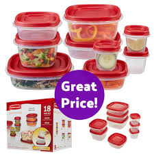 Food Storage Container Sets - 18 piece rubbermaid easy find lids food storage container set only