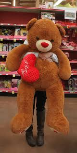 valentines big teddy gifts for your the trojan bluestreak