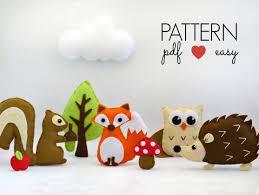 woodland mobile sewing pattern diy baby mobile pattern felt