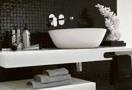 bathroom wall decorations ideas black and white bathroom wall decor rectangle shape white black