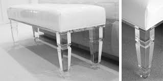 Acrylic Bedroom Furniture by Lucite Bench Bespoke Furniture Deborah Martin Designs Manhattan