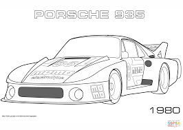 1980 porsche 935 coloring page free printable coloring pages