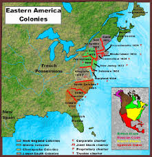 Map Of Colonies Period 3 Emergence Of Colonies Copy