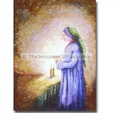 shabat candles woman lighting shabbat candles original israeli artwork holy