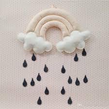 2017 baby pillow kids room decoration handmade boys raining clouds