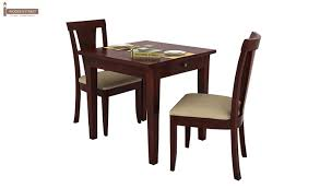 2 Seater Dining Tables Mcbeth Storage 2 Seater Dining Table Set Mahogany Finish
