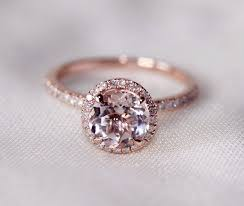 gold and morganite ring cut 7mm vs halo morganite ring 14k gold si h diamonds