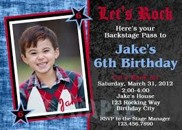 printable birthday invitations little boys rock roll party invites