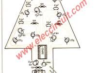 small christmas led flasher circuit with sound components layout