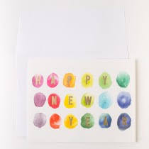 boxed new year cards stationery