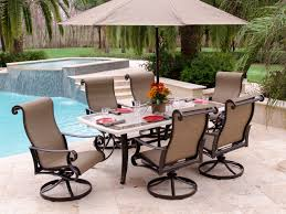 Wicker Patio Dining Sets Dining Room Patio Astounding Set With Swivel Chairs Wicker 7 Piece