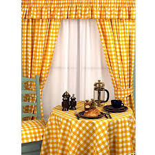 buy yellow kitchen curtains for your home