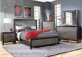 shop for a modern wave ebony 5 pc king bedroom at rooms to go