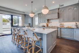 Gray Painted Kitchen Cabinets by Kitchen Cabinetry Blue Gray Color Home Ideas Interior Design