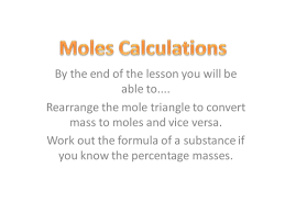 chemistry moles for year 11 gcse powerpoint by mrs chem