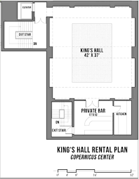 Floor Plan For Wedding Reception by King U0027s Hall Venue Rental Copernicus Center Chicago