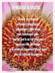 Fleurs Pour Fete Des Meres Poemes Fete Des Grands Meres 2016 Aloefleurs Com Ta Richesse De
