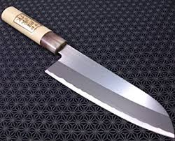 amazon com japanese santoku kitchen knife teruhide wooden handle