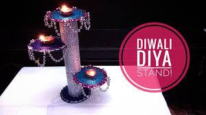 diy diwali home decoration ideas how to make diwali diya stand