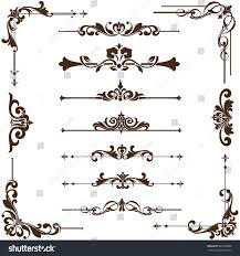 vector ornaments frames corners borders stock vector 403228888
