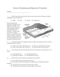 weathering worksheets worksheets