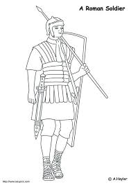 coloring page roman soldier img 4186 of we are all magical roman
