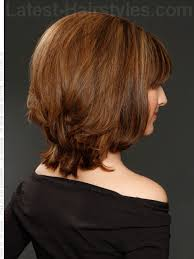 medium length tapered or layered hairstyles for women over 50 lob lightly layered long bob shoulder length w tapered back