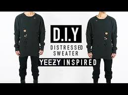 yeezy sweater how to yeezy inspired distressed sweater d i y jairwoo
