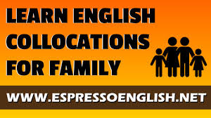 learn collocations for talking about family