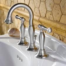 Satin Nickel Bathroom Faucets by Quentin 2 Handle 8 Inch Widespread High Arc Bathroom Faucet