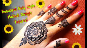 how to apply easy simple gulf dubai style henna mehndi design