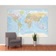 wall blue world map atlas wallpaper mural wall blue world map atlas wallpaper mural