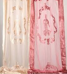 Rose Colored Curtains Shabby French Provincial Chic Pair Embossed Curtain Drapes 2 Pink