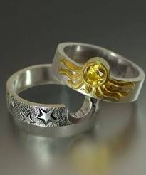nerdy wedding rings charming nerdy wedding rings 10 sun and moon ring set 1858
