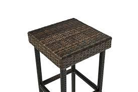 Crosley Palm Harbor Patio Furniture Palm Harbor 3 Piece Outdoor Wicker Bar Set Bar U0026 Two Stools In