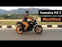 best video of yamaha fz s modified bike india youtube