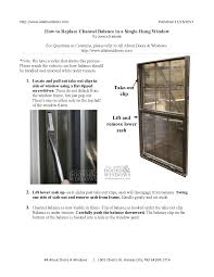 how to replace channel balance in a single hung window all types