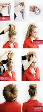 sock hair bun hair tutorial diy sock bun