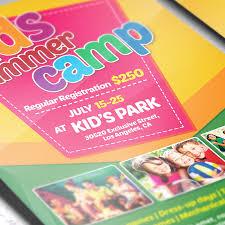 kids summer camp u2013 premium flyer template facebook cover