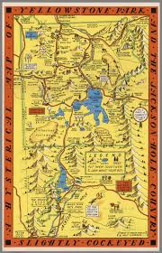 Yellowstone Park Map A Hysterical Map Of The Yellowstone Park And The Jackson Hole