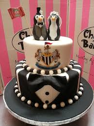 wedding cake newcastle 2 tier wedding cake covered in fondant with tuxedo base ti flickr