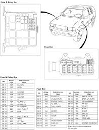 1996 isuzu rodeo fuse box 1996 wiring diagrams instruction