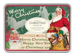 amazon com cavallini christmas santa mailing sets 24 assorted
