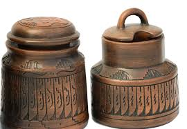 pottery kitchen canister sets native american navajo style pottery canister set